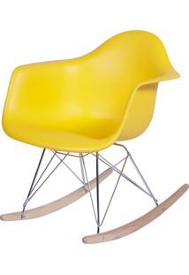 Poltrona Eames Dar Balanço Amarelo Or Design