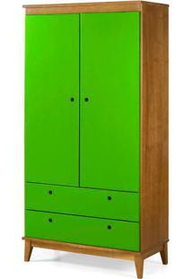 Armario Multiuso Hendrix Verde Estrutura Amendoa 174Cm - 60833 - Sun House
