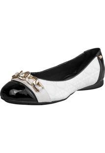 Sapatilha Bico Quadrado Sapatoweb Confort Branco