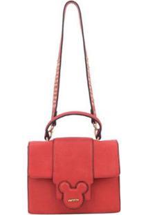 Bolsa Luxcel Tiracolo Pequena Mickey - Feminino-Vermelho