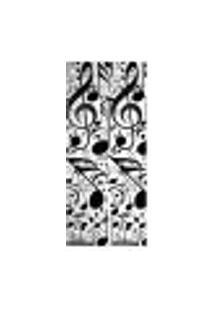 Adesivo Decorativo De Porta - Notas Musicais - 1442Cnpt