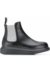 Alexander Mcqueen Ankle Boot Slip-On - Preto
