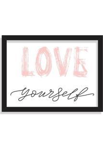 Quadro Decorativo Love Yourself Preto - Médio
