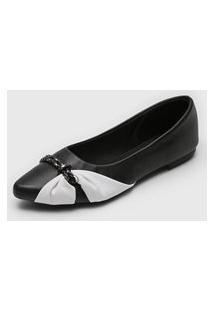 Sapatilha Dafiti Shoes Bicolor Preto/Branco