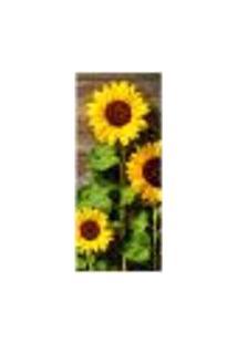 Adesivo Decorativo De Porta - Flores - Girassol - 2162Cnpt
