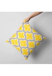 Capa De Almofada Avulsa Decorativa Abstrato Amarelo 45X45Cm