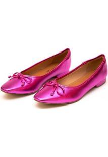 Sapatilha Sua Cia Metalizado Feminina - Feminino-Pink