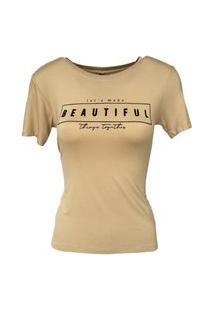 T-Shirt Camiseta Slim Lettering Beautiful
