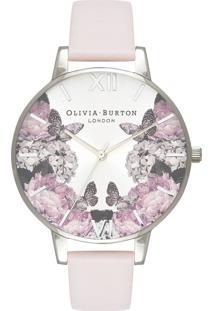 Relógio Olivia Burton Feminino Couro Rosa - Ob16Wg51