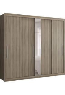 Guarda-Roupa Casal Com Espelho Baco Uf 5Pt Anis