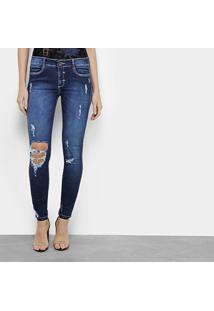 6921de65c ... Calça Jeans Skinny My Favorite Thing (S) Rasgos Cintura Baixa Feminina  - Feminino-