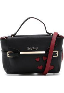 Bolsa Betty Boop Coração Preta