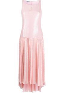 Atu Body Couture Vestido Com Pregas E Paetês - Rosa