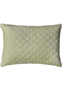 Porta Lola Home Travesseiro Linen Verde - Verde - Dafiti
