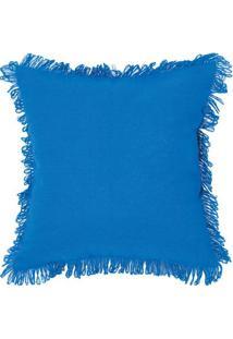 Capa Para Almofada Campestre Solid- Azul Escuro- 40Xartesanal