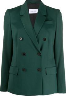 Calvin Klein Blazer Com Abotoamento Duplo - Verde