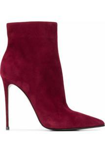 Le Silla Ankle Boot Eva De Camurça - Vermelho