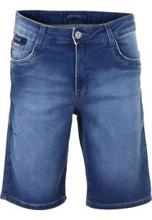 Bermuda Jeans Índigo Masculina Max Denim
