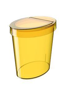 Lixeira Oval Glass 26,2 X 18,4 X 24,6 Cm 5 L Amarelo Coza