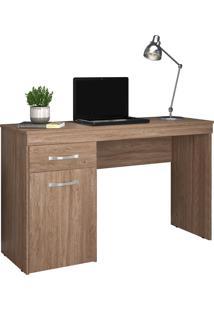 Escrivaninha 1 Porta Vitoria Nogal Touch Demobile Marrom - Marrom - Dafiti