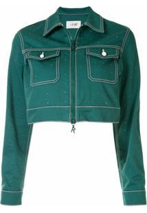 Kirin Jaqueta Jeans Cropped - Verde
