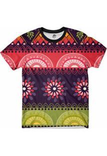 Camiseta Bsc Tribal Arcos Full Print Masculina - Masculino-Roxo