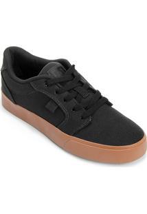Tênis Dc Shoes Anvil La Tx - Masculino-Preto+Caramelo