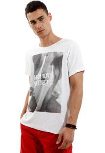 Camiseta John John Rg Holiday Secrets Malha Off White Masculina (Off White, Gg)