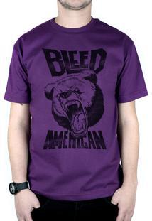 Camiseta Bleed American Killer Bear Roxo