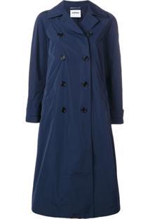 Aspesi Trench Coat Com Abotoamento Duplo - Azul