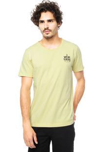 Camiseta Colcci Feel Free Festival Amarela