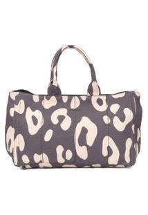 Bolsa Feminina Shopping Onça Gráfica - Animal Print