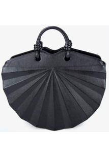 Bolsa Soleah Handbag Leque Feminina - Feminino-Preto