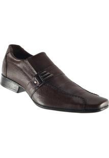 Sapato Social Em Couro Legítimo Masculino D`Mazons Civ1403 - Masculino-Café