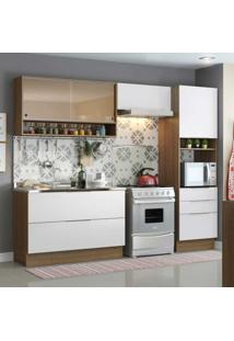 Cozinha Compacta Linear 6 Pt 3 Gv Rustic E Branca