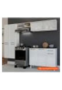 Cozinha Compacta Topázio Glass 6 Pt Branca