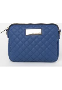 Bolsa Em Matelass㪠Com Tag - Azul - 17X23Xcmloucos E Santos