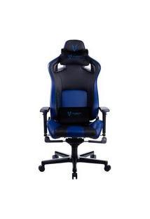 Cadeira Gamer Husky Gaming Hailstorm 900, Preto E Azul, Com Almofadas, Reclinável Com Sistema Frog, Descanso De Braço 3D - Hgma088
