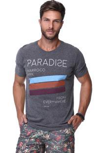 Camiseta King&Joe Cinza Escuro Paradise