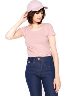 73179fb7bffe8 ... Camiseta Polo Wear Básica Rosa