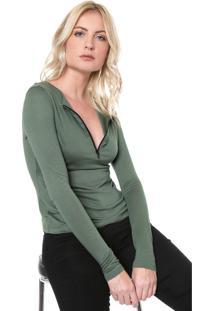 Blusa Lança Perfume Zíper Verde