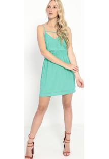 Vestido Com Elástico- Verde- Sommersommer