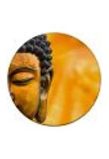 Tapete Redondo Wevans Buda Amarelo 84Cm