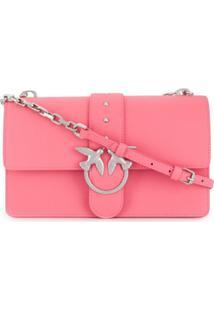 Pinko Bolsa Transversal Love Simply Mini - Rosa