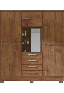 Guarda-Roupa Casal Com Espelho Cordoba 5 Pt 4 Gv Malbec