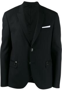 Neil Barrett Classic Single-Breasted Blazer - Preto