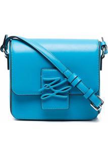 Karl Lagerfeld Bolsa Transversal Autograph - Azul