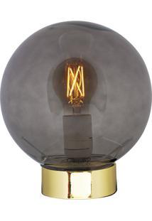 Luminária De Mesa Em Vidro E Metal 9711 - Mart - Dourado
