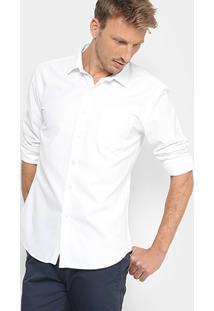 Camisa Social Broken Rules Com Bolso E Mini Print Masculina - Masculino