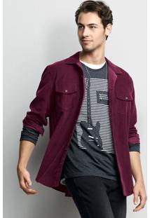 Camisa Masculina De Veludo Em Algodão